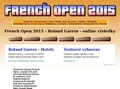 web Tenis French Open